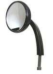 MOTORCYCLE MIRROR  2.5″ Mirror Left Side Black Anodized